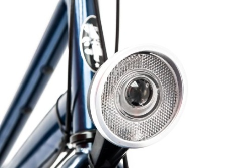 Rent a city bike with a safe front light