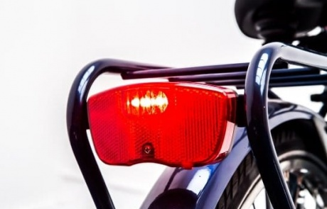 Rent a city bike with a safe rear light