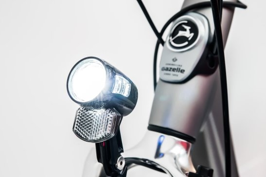Rent an E-Bike with a safe front light