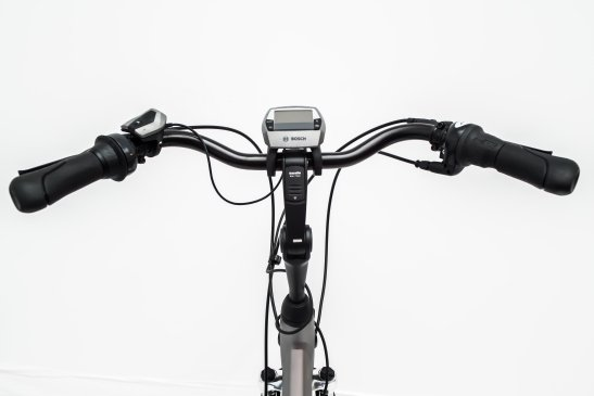 Adjustable steer of a rental E-Bike